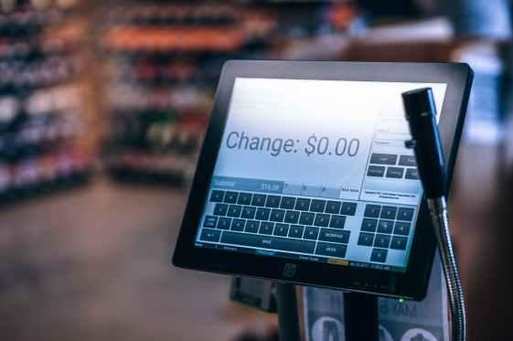 photo of black flat screen monitor
